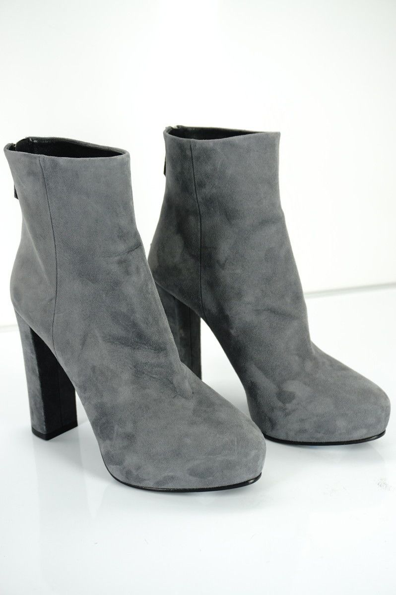 3d9cb35b3ce Prada Boots New Prada Suede Platform Ankle Boots Block Heel Back ...