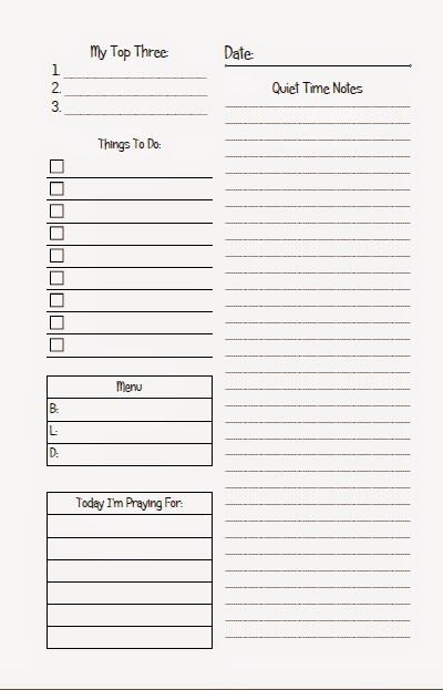 Christian-Themed Daily Page ~ Planner Fun - It\u0027s A Free-For-All