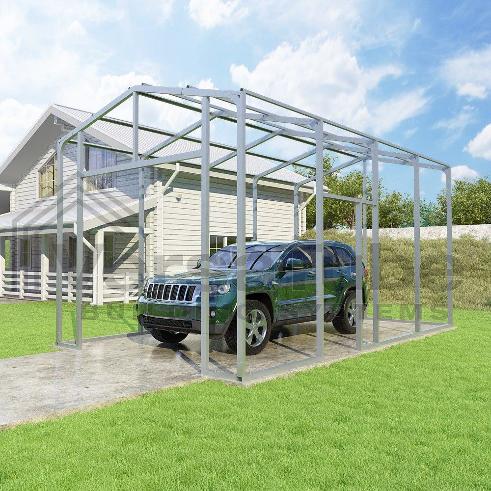 Frontier Garage Frame Only 12 X 20 X 10 Garage Or Building Building Kits Garage Style Carport Building