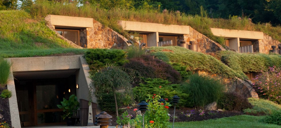 The Honeycombs Our Unique Earth Sheltered Hotel Rooms Tucked Into A Hillside Overlooking Holmes Countythe