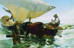 Joaquín Sorolla, Die Rückkehr vom Fischfang, 1894, Öl auf Leinwand, 265 x 325 cm, Paris, musée d'Orsay, © RMN-Grand Palais (Musée d'Orsay) / Gérard Blot / Hervé Lewandowski