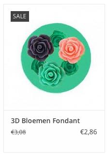 € 2,86 3D Bloemen Fondant www.ovstore.nl/nl/3d-bloemen-fondant.html