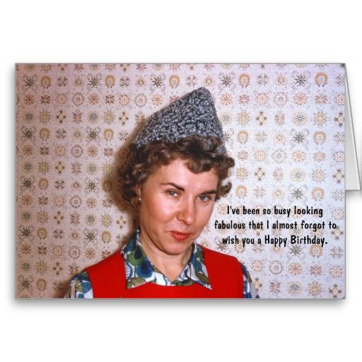 Lady Retro Fabulous Birthday Humor Card