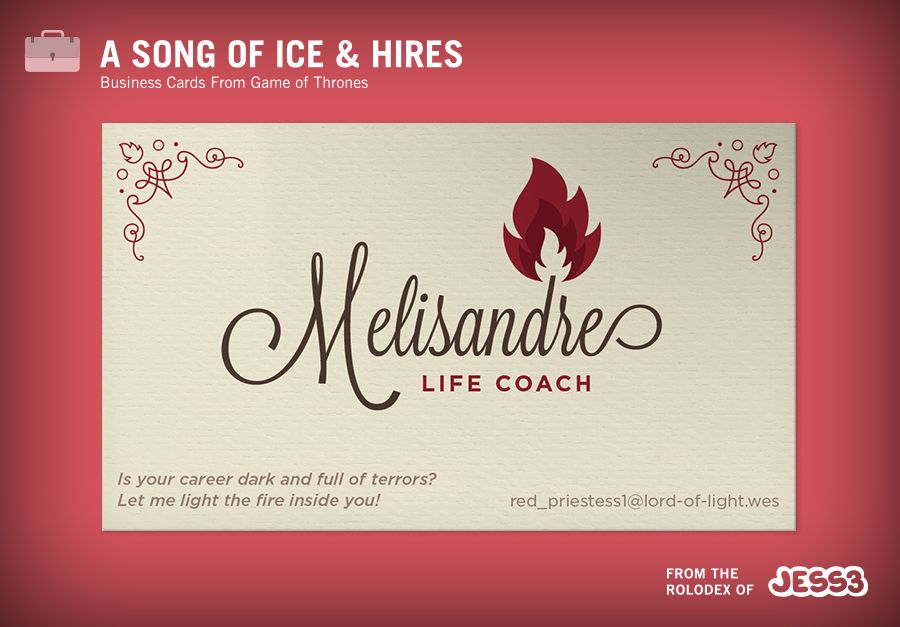 Melisandre Life Coach Is your career dark and full of terrors - life career
