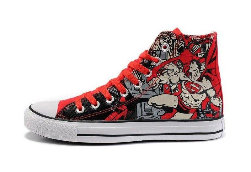 Superman shoes, Converse chuck taylor