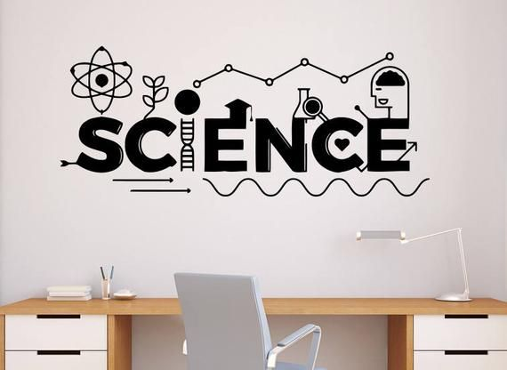 Science Wall Decal Vinyl Sticker School Education Home Office Art Design Murals Classroom Interior (5nr) #decorateshop