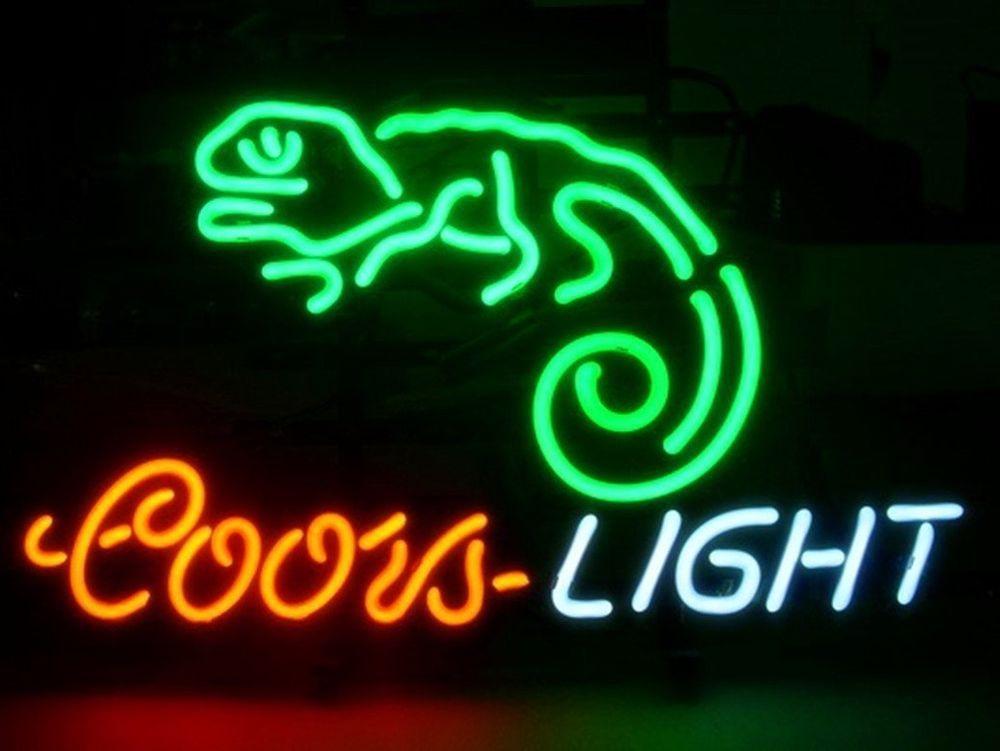 New coors light chameleon beer pub bar neon sign 17x14 be30s ship new coors light chameleon beer pub bar neon sign 17x14 be30s ship from usa in collectibles lamps lighting neon ebay aloadofball Image collections