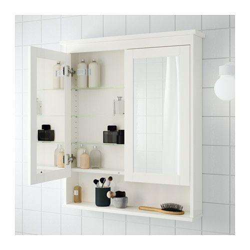 Hemnes White Mirror Cabinet With 2 Doors 83x16x98 Cm Ikea In 2020 Ikea Hemnes Mirror Mirror Cabinets Hemnes