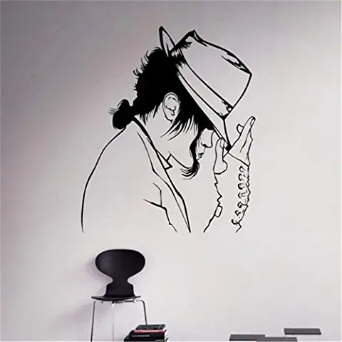 Michael Jackson Autocollant Mural Art Autocollant Vinyle Murale Pour Home Room Decor