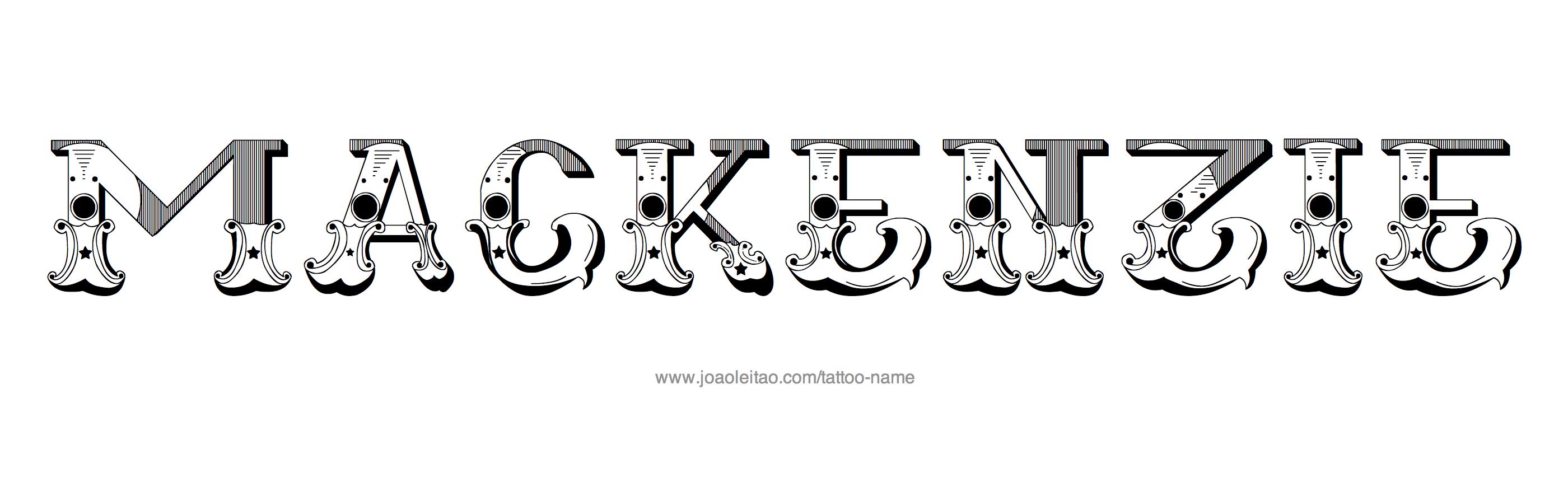 Mackenzie Name Tattoo Designs Tattoo designs
