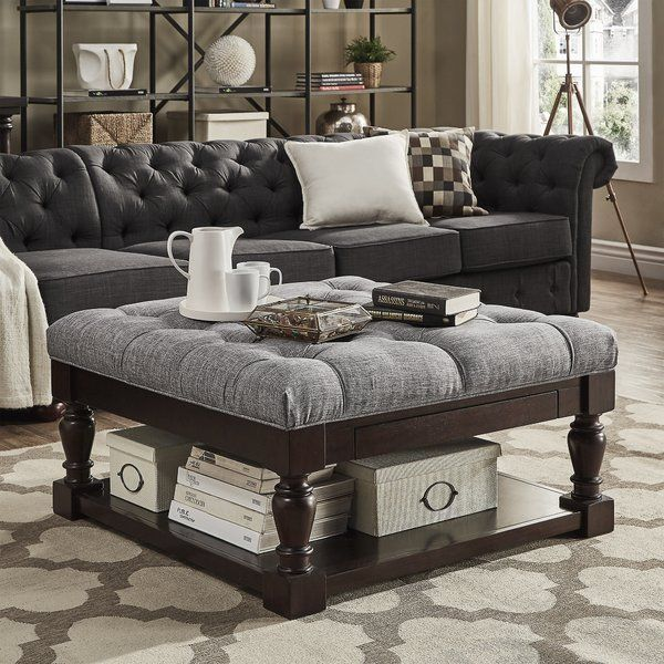 Hults Tufted Cocktail Ottoman | Couch with ottoman ...