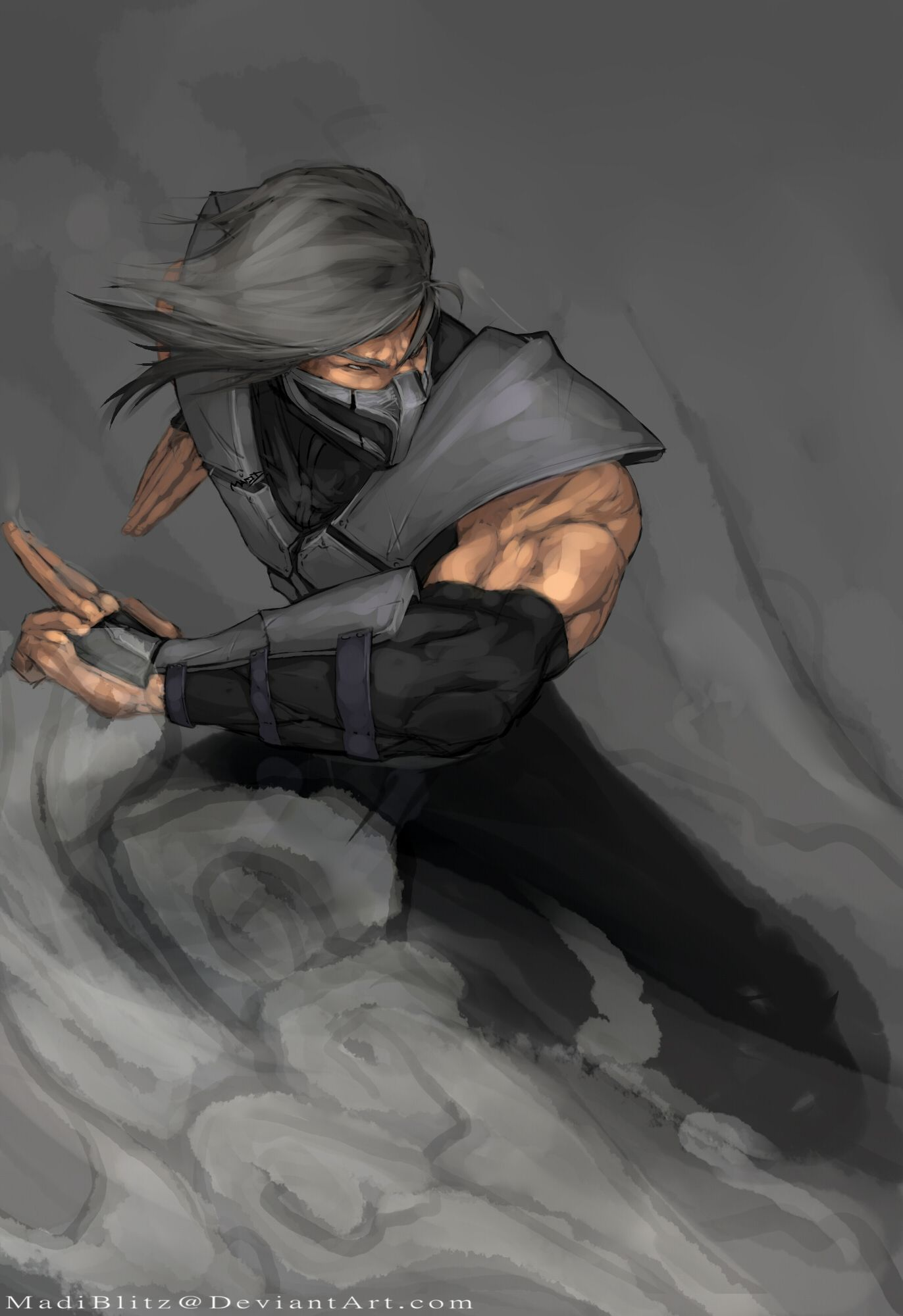 Smoke The Coolest Combatant Behind Scorpion And Sub Zero And