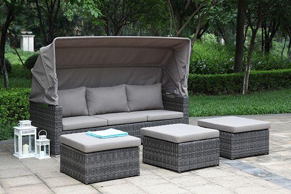 Lounge Gartenmöbel 3 in 1 citylounge donna sofa liege lounge möbel