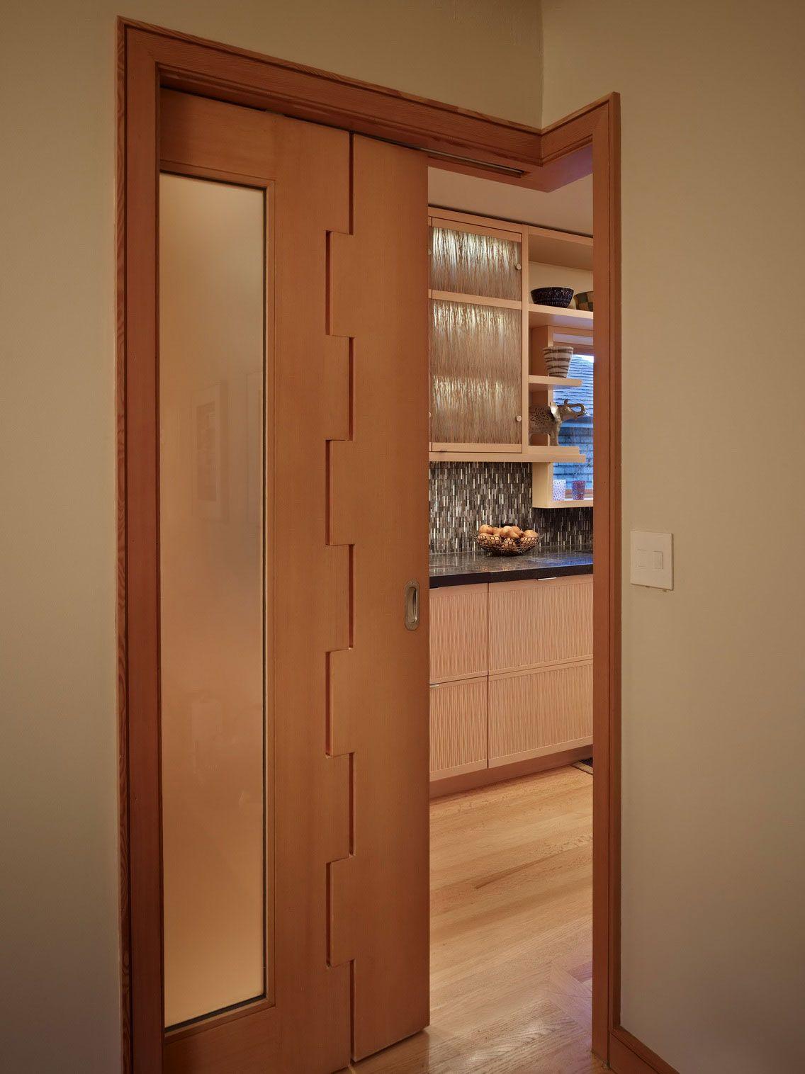 Unique Custom Corner Pocket Door With Frosted Glass Bedroom Door Design Wood Doors Interior Doors Interior
