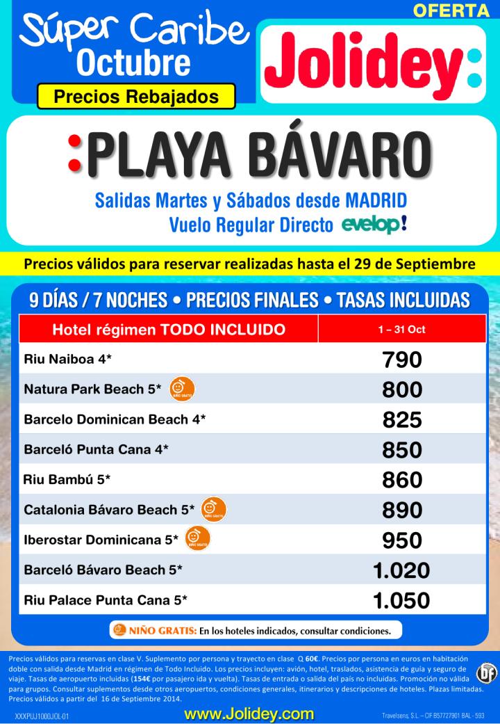 Precios Rebajados Super Caribe a Playa Bávaro desde 790 €. Salidas Martes y Sábados desde Madrid ultimo minuto - http://zocotours.com/precios-rebajados-super-caribe-a-playa-bavaro-desde-790-e-salidas-martes-y-sabados-desde-madrid-ultimo-minuto/