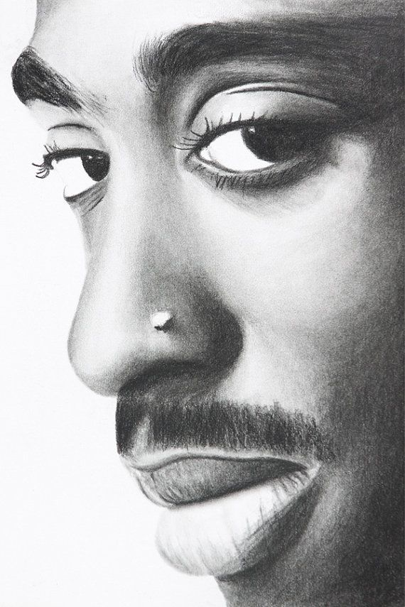 Tupac by charlesathompson on Etsy, $20.00 | Charcoal ...