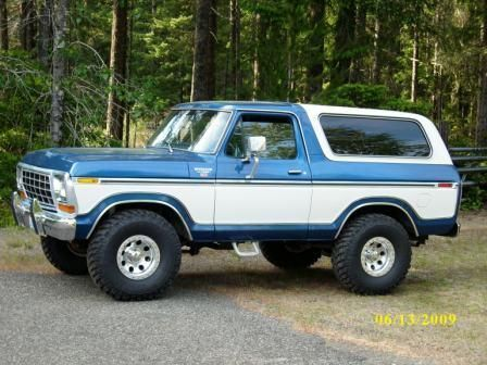 79 Ford Bronco 1978 Ford Bronco For Sale Belfair Washington