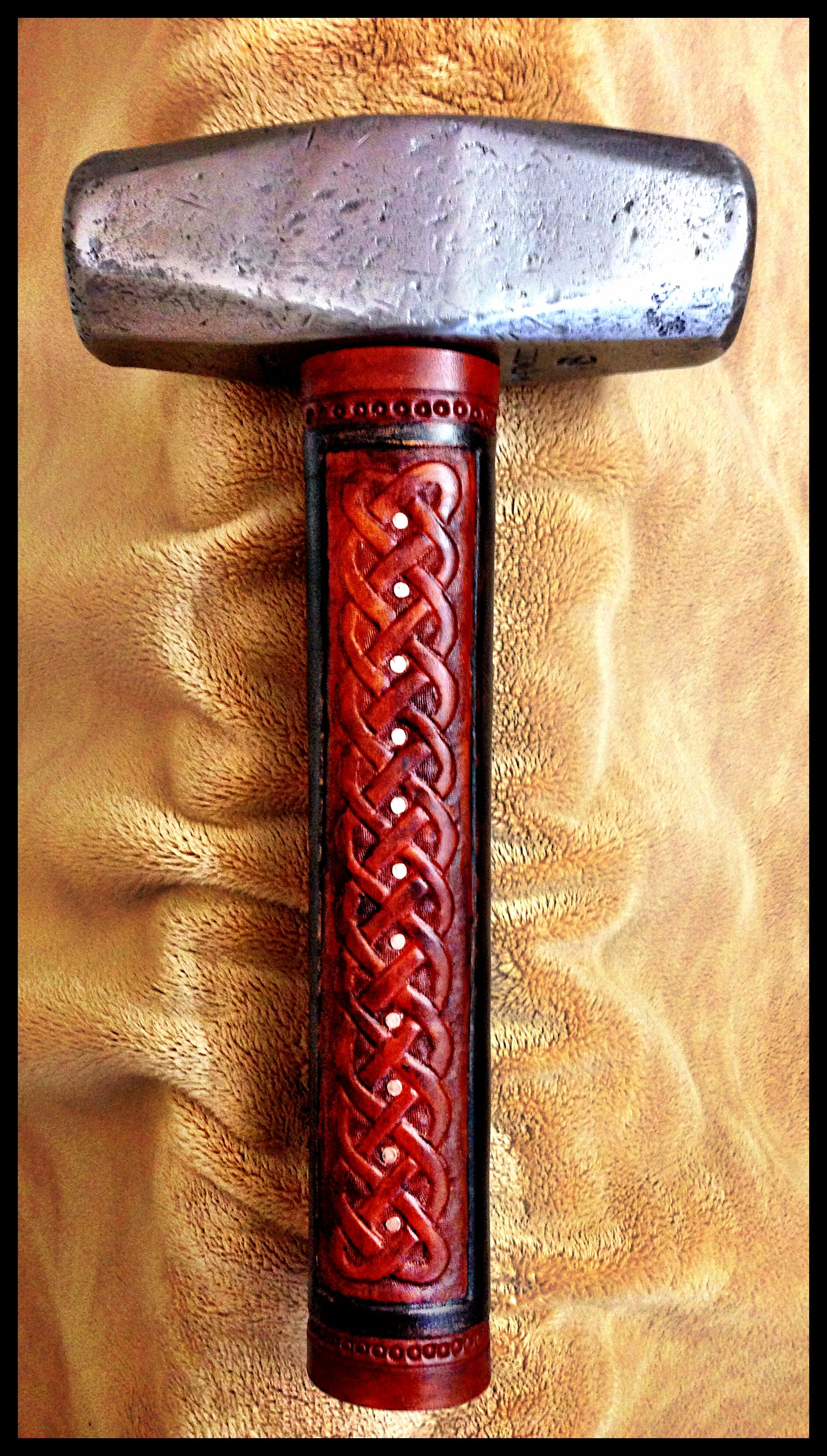 "Vintage ""Warwood #1472"" 6lb. Hammer w/Leather Grip by John Black"