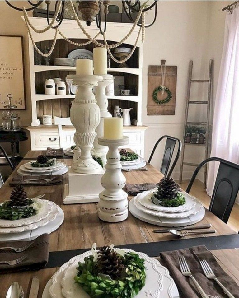 32 Elegant Ideas For Dining: 32+ Comfy Simple Dining Room Decor With Farmhouse Style