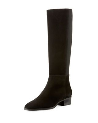 6bd2e1ee4842 Aquatalia Finola Flat Leather Knee Boots