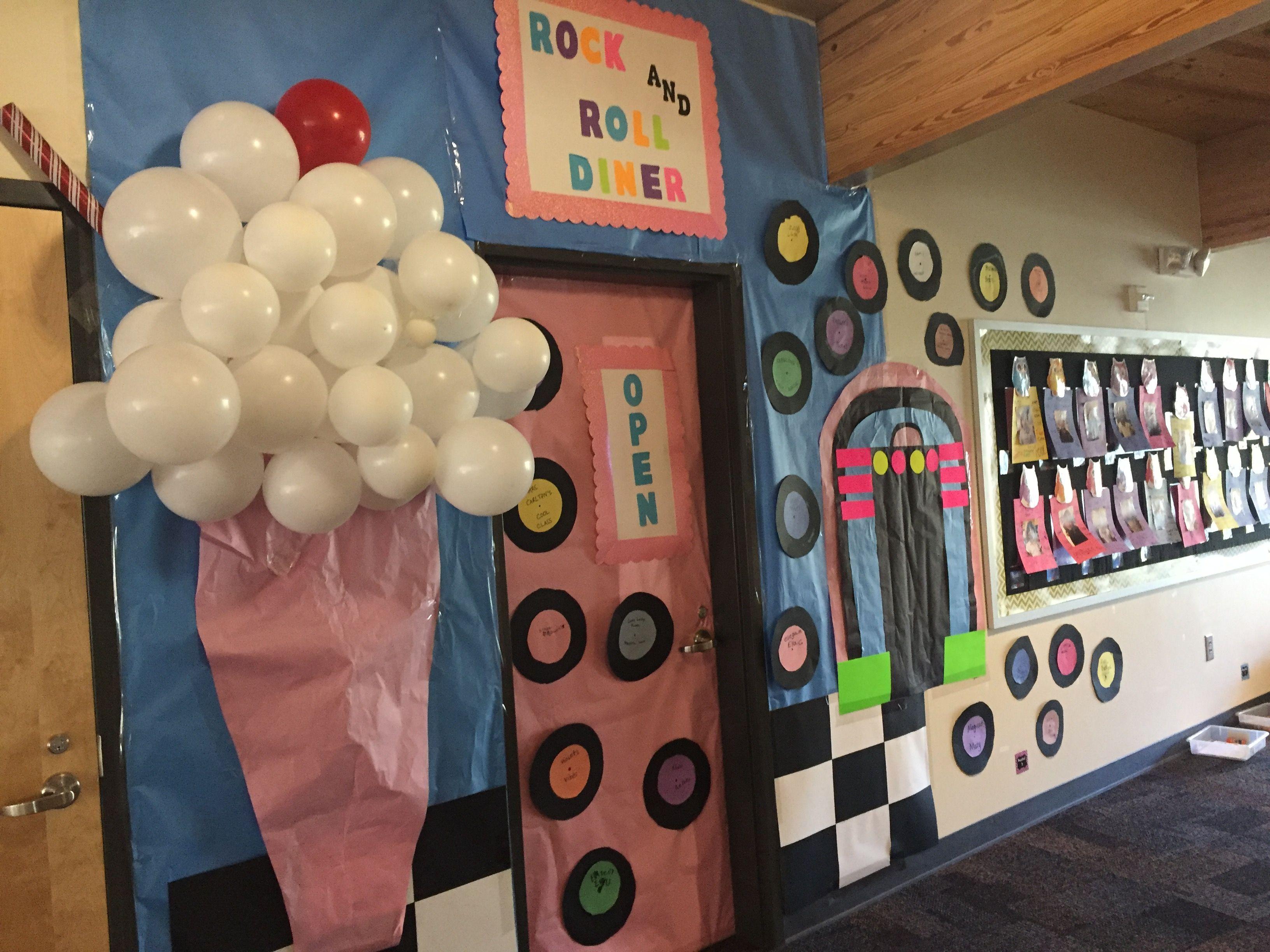50 S Theme Classroom Door Classroom Themes Classroom Transformation Classroom Door