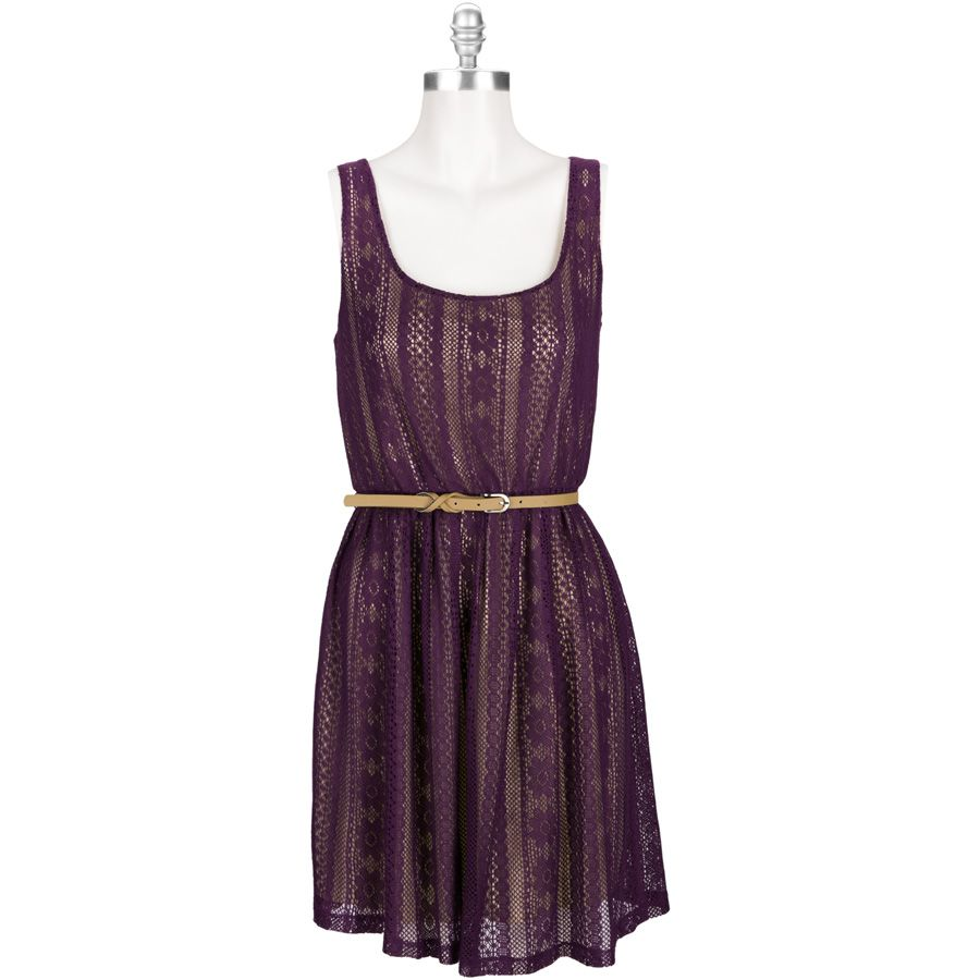 Sequin Hearts Juniors Lacy Dress with Belt #VonMaur | All Dressed Up ...