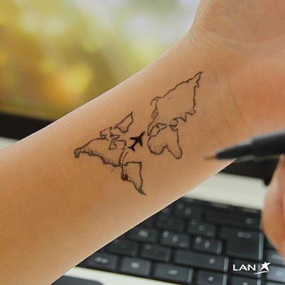 World map tattoo tattoo pinterest tatuajes para tatuajes y tinta world map tattoo gumiabroncs Image collections