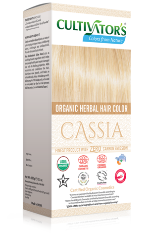 Organic Herbal Hair Color Cassia Natural hair dye with
