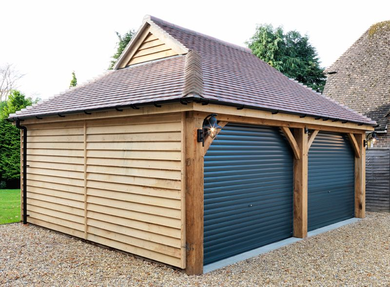 Perfect Double Wooden Garage