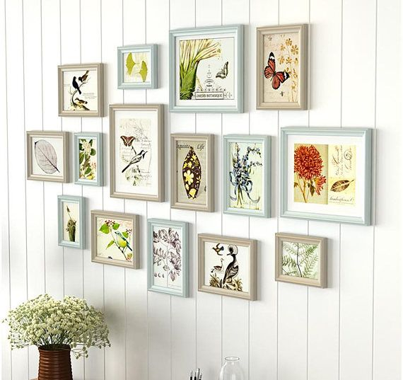 15 Pieces One Set Of Different Size Solid Wood Picture Photo Frame