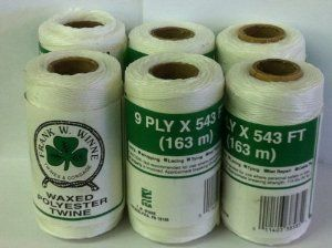 Waxed Polyester Twine By Frank W Winne 18 00 Waxed Polyester Twine Uses Whipping Lacing Tying Net Repair Cable Tie 9 Home Hardware Twine Cable Tie
