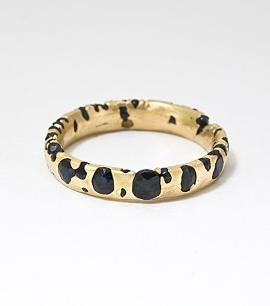 Non-traditional wedding bands by Polly Wales - Narrow Band with ...