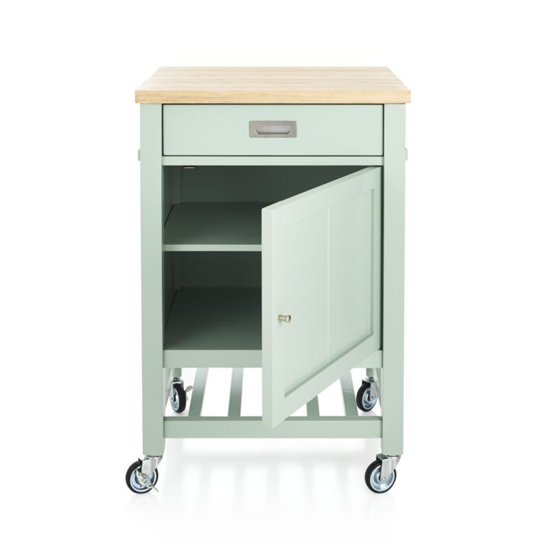 Sheridan Mint Kitchen Cart | Crate and Barrel | Dream house | Pinterest