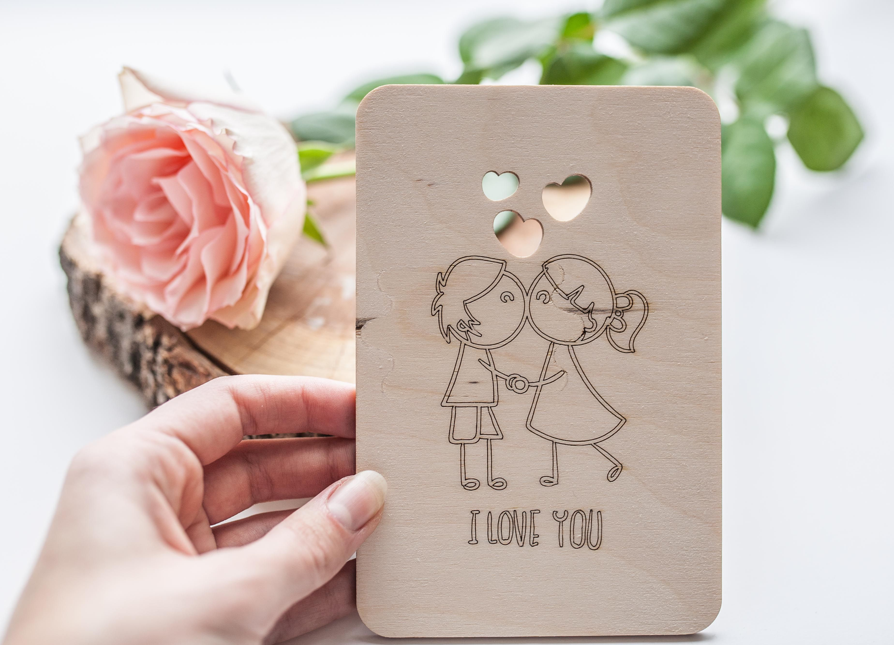 Valentine card laser cut etched on wood card wood card st valentines valentine card laser cut etched on wood card wood card st valentines anniversary card love cards love you card husband card wood cut card wood greeting card m4hsunfo Images