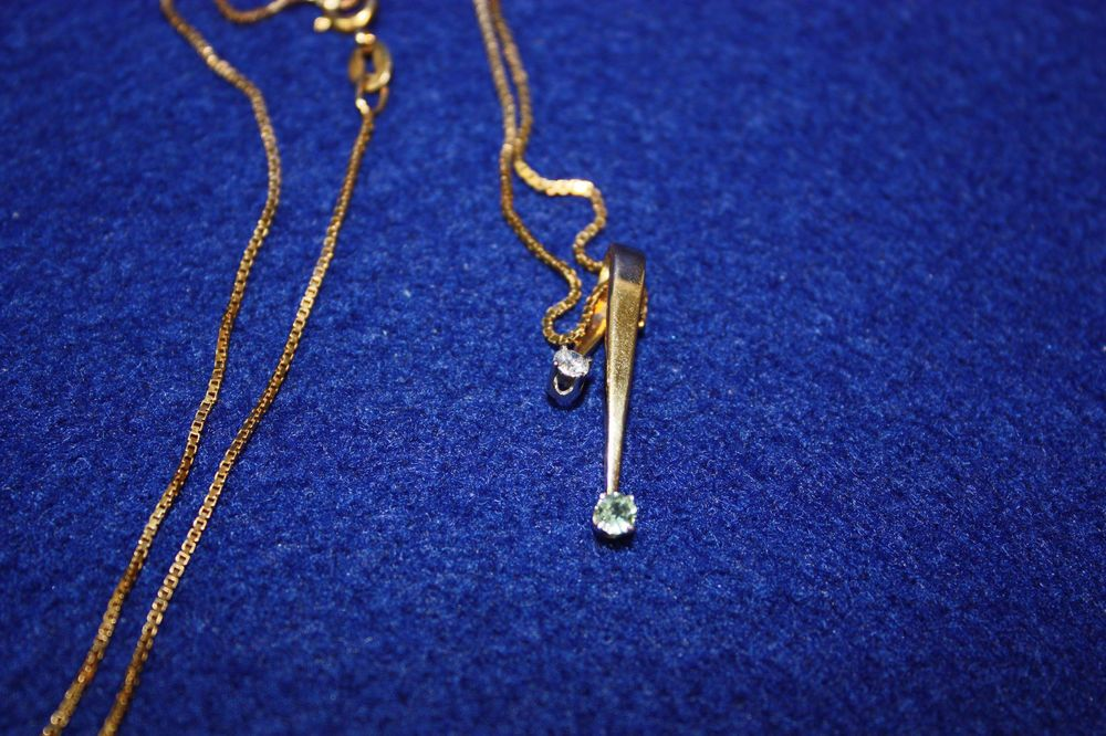 Lovely natural diamond green sapphire pendant 14k gold 18 chain lovely natural diamond green sapphire pendant 14k gold 18 chain pendant aloadofball Image collections