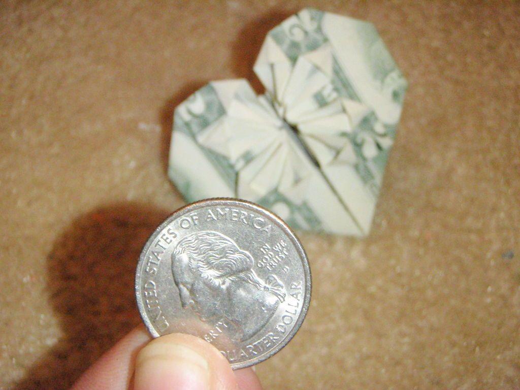 Dollar bill origami heart dollar bill origami origami hearts dollar bill origami heart jeuxipadfo Images
