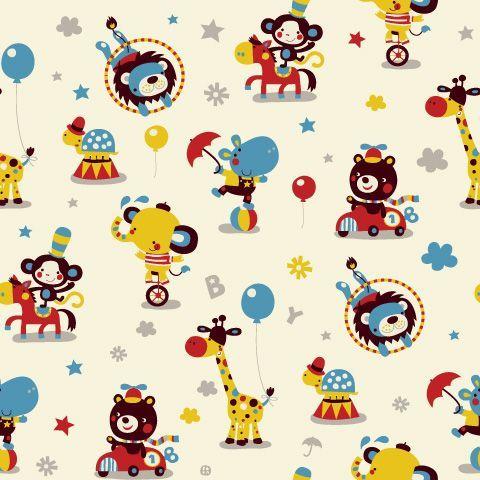 Deborah Van De Leijgraaf  Babyboy circus fabric design #fabric #design #baby #boy #girl #illustration #deborahvandeleijgraaf