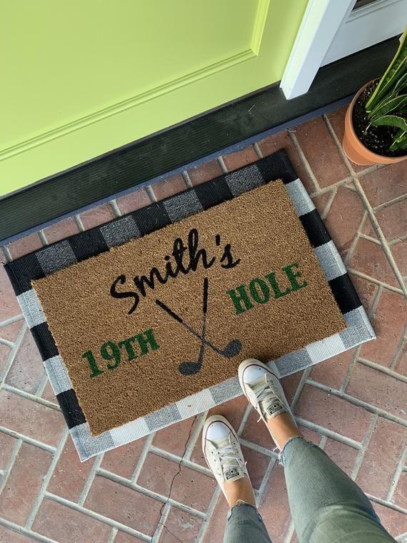 Fatheru0027s Day Gift / Golf Doormat / Sports Door Mat / Spring Doormat / Golf  Decor