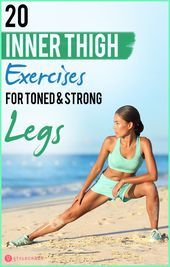 15 Best Inner Thigh Exercises To Do At Home For Toned Legs - #athome #ejercicios #exercice #fit #fit...