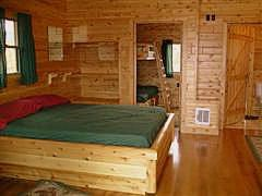 Photo Of Bedroom Of Island View Cabin Cottage At Mackinaw Mill Creek Camping