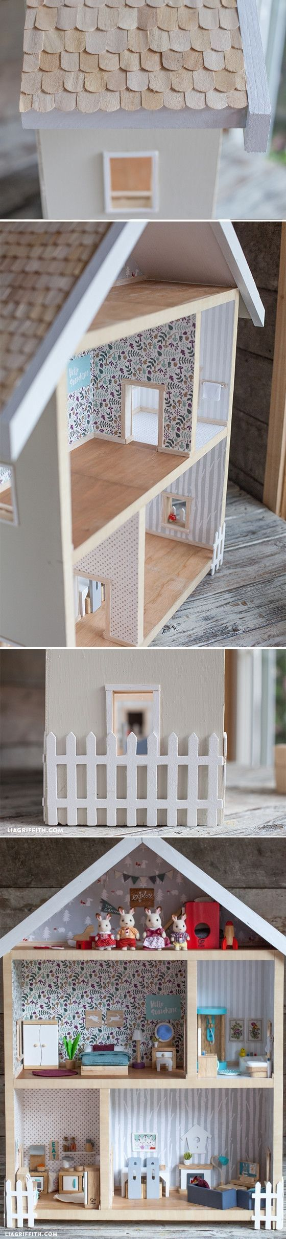 Give A Home - Make Your Own Dollhouse | Recortes de madera, Recortes ...