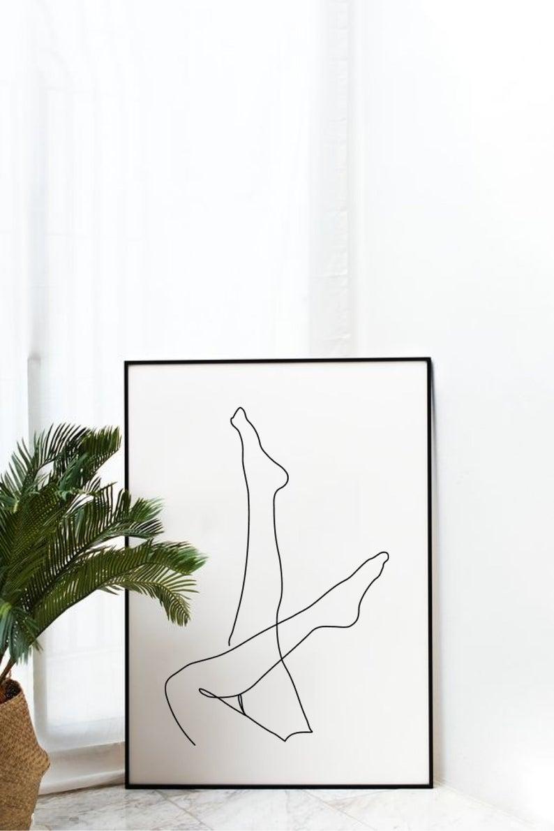 Woman legs art Line body art Vector SVG Female Minimalist | Etsy