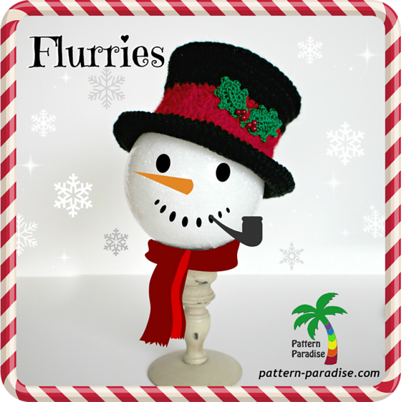 Chameleon Hat - Flurries PDF14-132 | Christmas Crochet | Pinterest