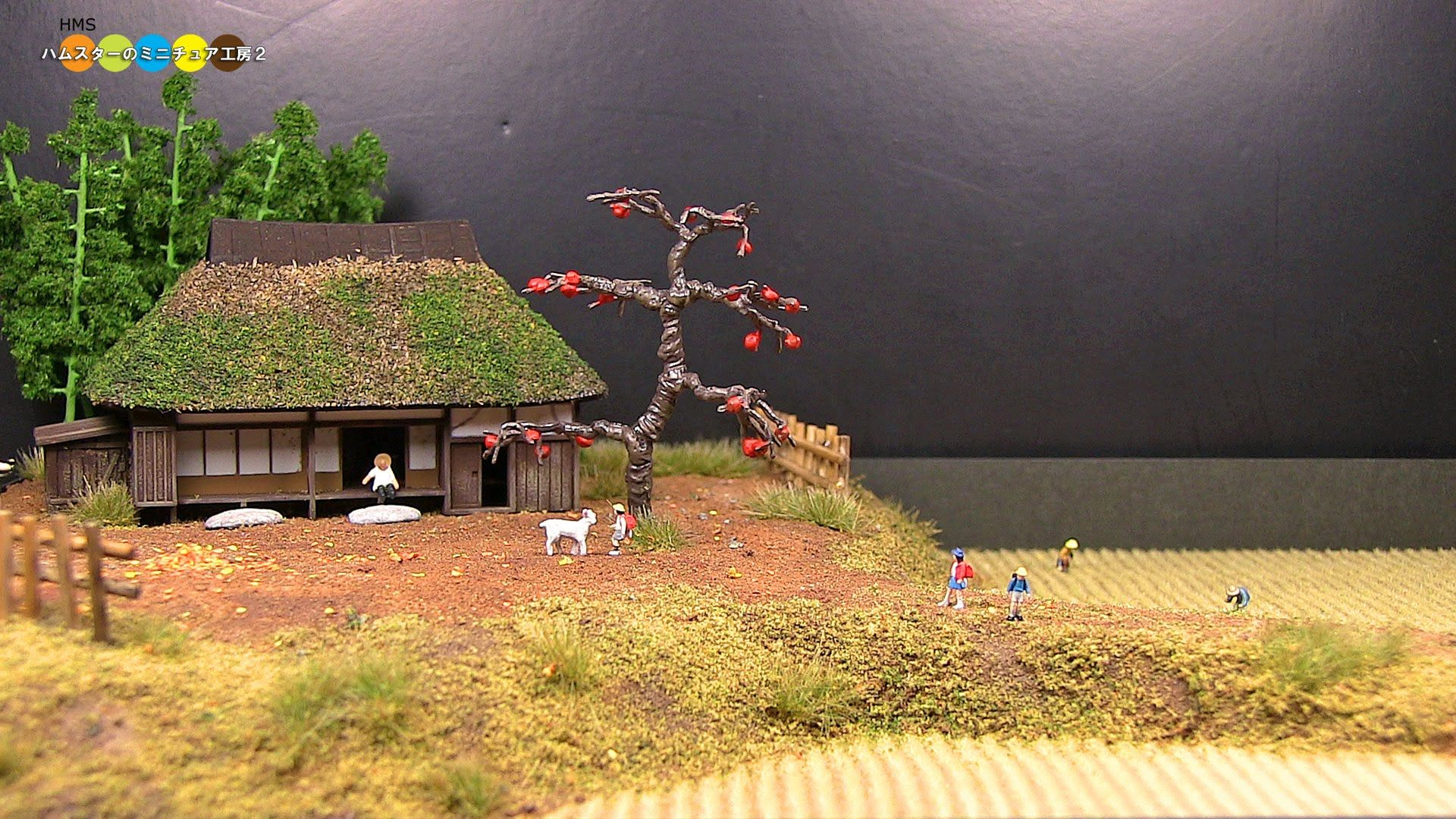 Diorama Autumn Countryside ミニチュア秋の田園風景作り Model Railroad Model Trains Model Train Layouts