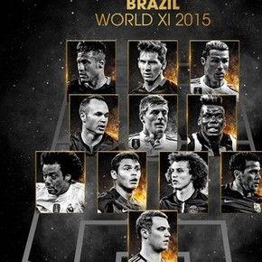Seleção de 2015 feita por jogadores brasileiros (Foto: Divulgação / Fifpro)