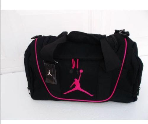 Nike Air Jordan Duffle Travel Gym Sport Bag black pink  07be2e3ffe1fe