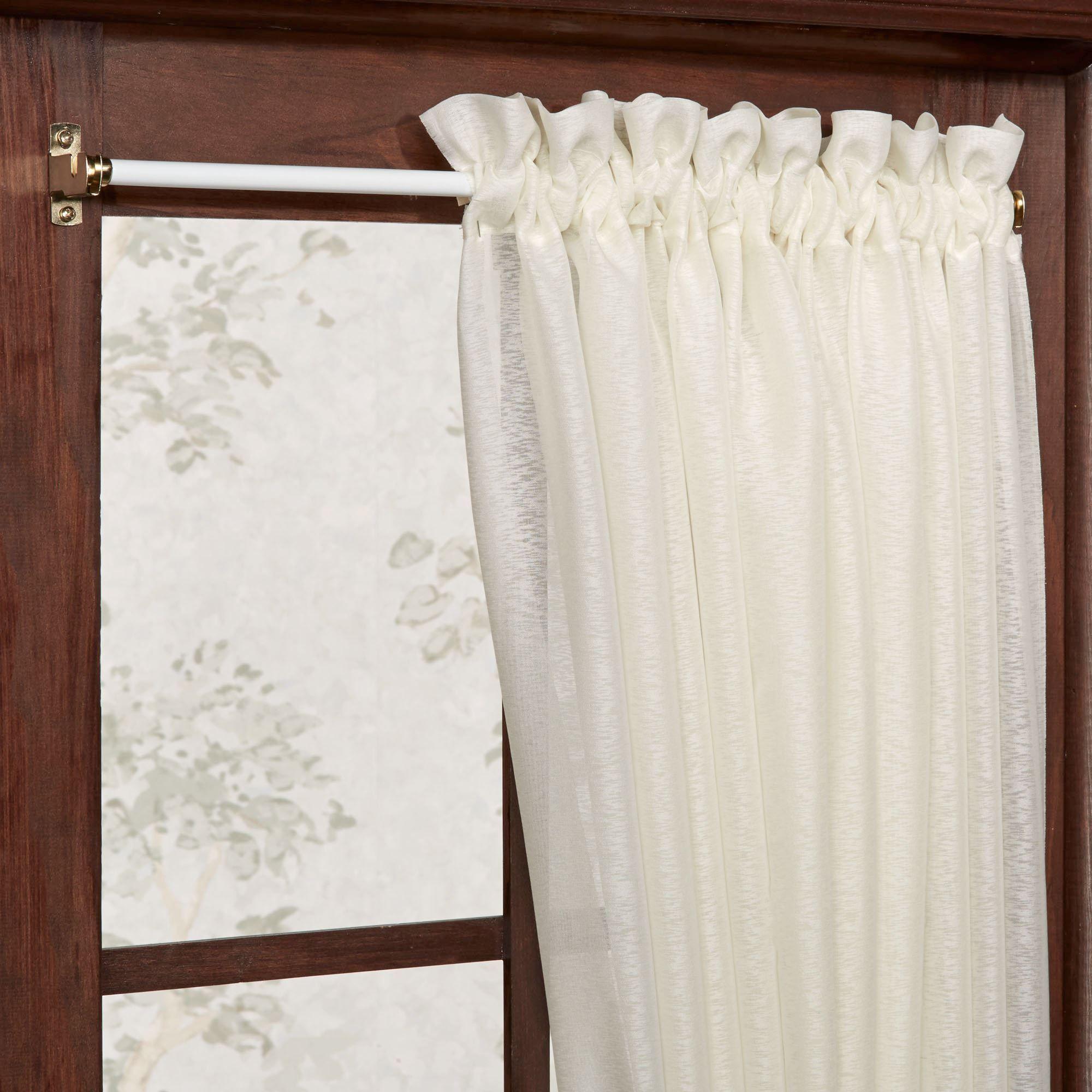 Expandable Wide Sash Curtain Rod Curtains Inside Window Frame