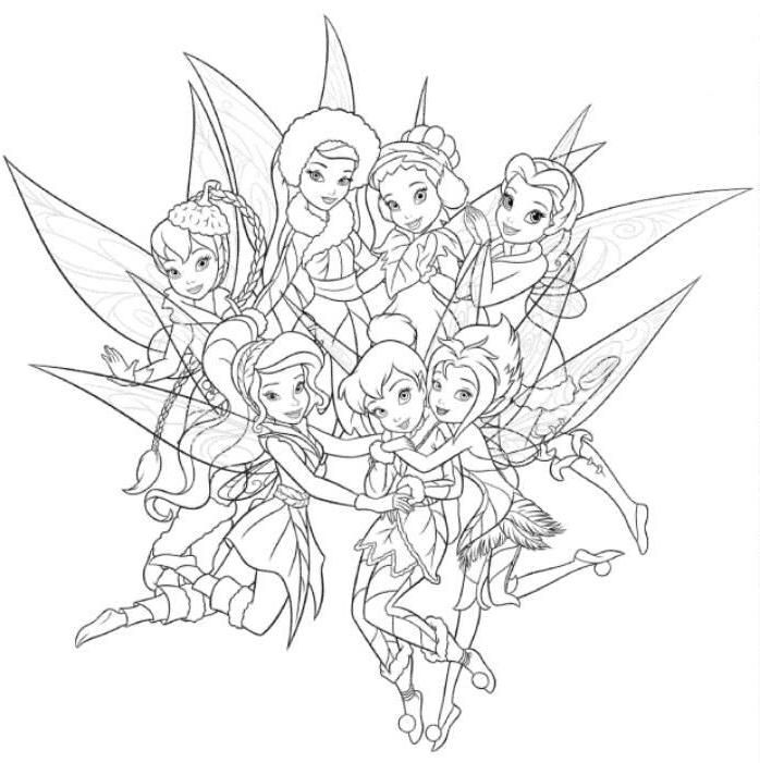 tinkerbell friends coloring pages - photo#14