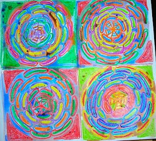 Wow! love the colors and circles and lines and patterns and......