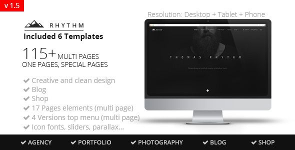 Rhythm multipurpose onemulti page muse template pinterest rhythm multipurpose muse template creative muse templates cheaphphosting Choice Image